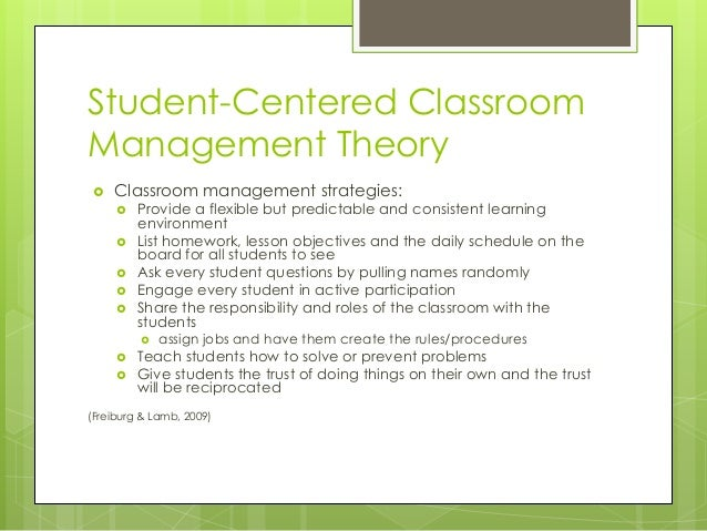 Modern Concept Of Classroom Management ~ Classroom management theory presentation tes pptx pdf