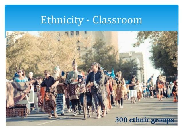 Ethnicity - Classroom 300 ethnic groups