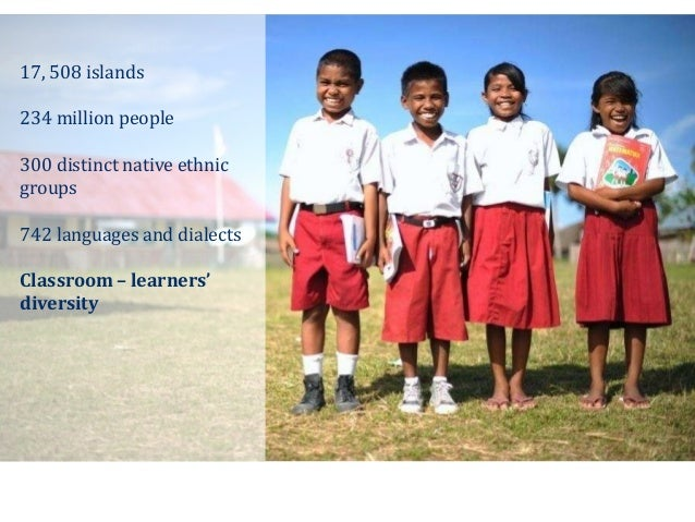17, 508 islands 234 million people 300 distinct native ethnic groups 742 languages and dialects Classroom – learners' dive...