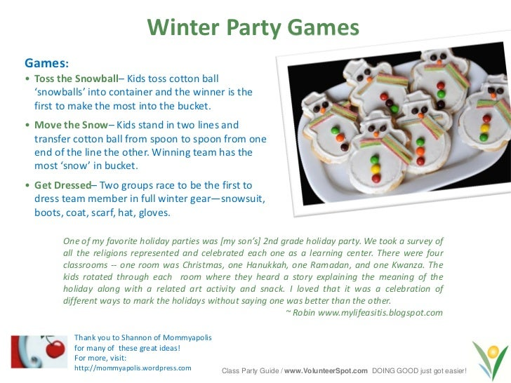 Second Grade Christmas Party Ideas Part - 44: 13. Winter Party ...