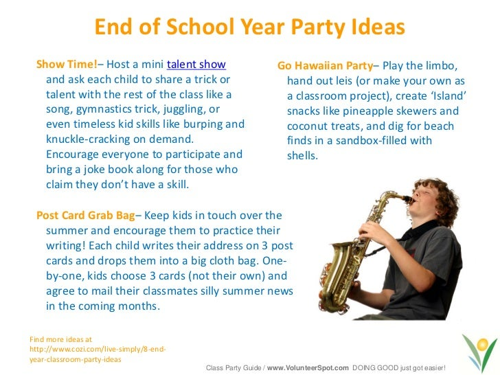 Second Grade Christmas Party Ideas Part - 43: 17. End Of School Year Party Ideas ...