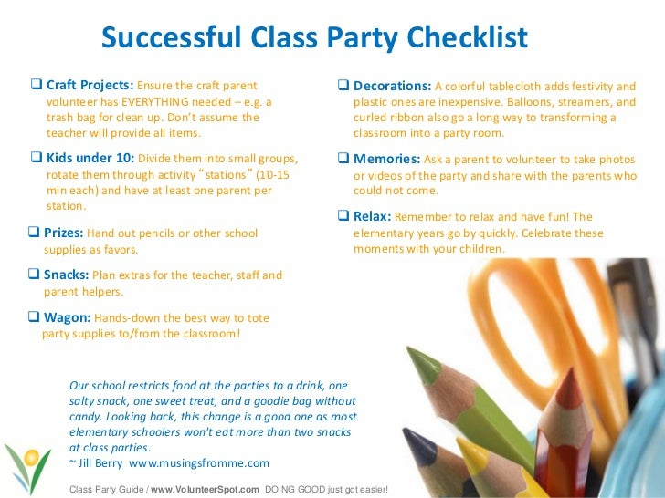 Elementary School Christmas Party Ideas Part - 33: 6. Successful Class Party ...