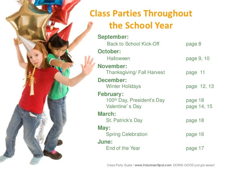 End Of Year Christmas Party Ideas Part - 17: 7. Class Parties Throughout The School Year ...
