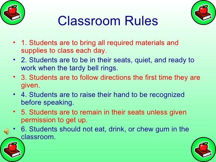 Elementary Classroom Rules ~ Classroom rules and procedures