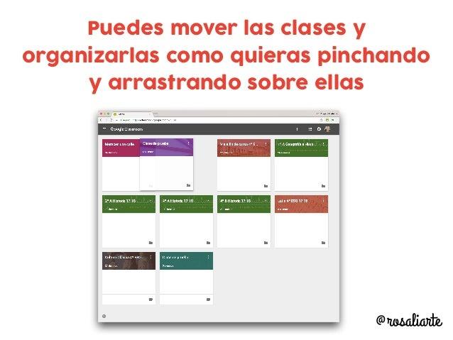 Puedes mover las clases y organizarlas como quieras pinchando y arrastrando sobre ellas @rosaliarte