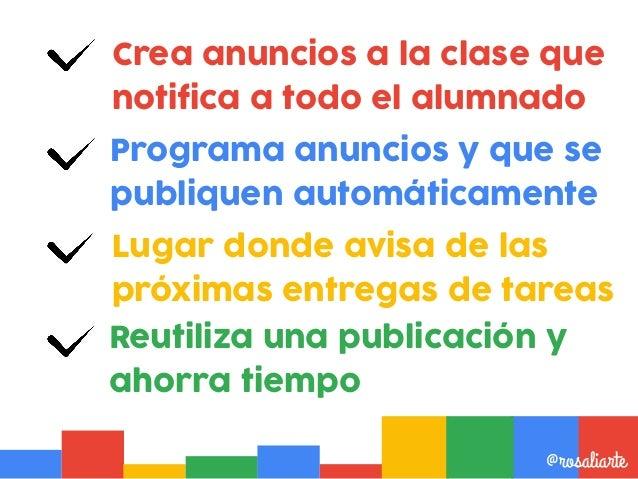 Escribe una novedad para tu clase o reutiliza una publicación @rosaliarte