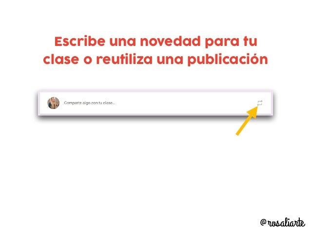 Genial para notificar a todo el alumnado de novedades @rosaliarte Puedes adjuntar archivos, carpetas o links Puedes public...