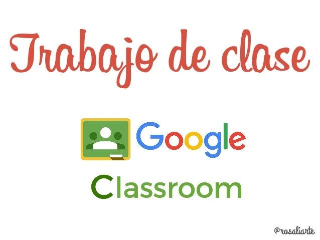 Donde se accede al calendario de la clase @rosaliarte Accede también a la carpeta de Drive de la clase Crea un apartado de...