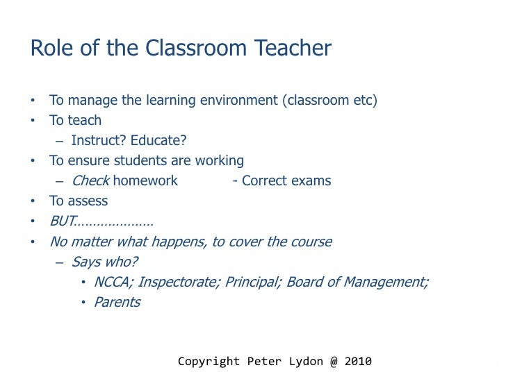 Essay About Teachers Role In The Classroom - image 5