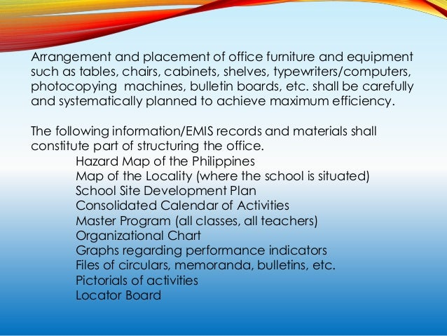 PROPER UTILIZATION OF EDUCATIONAL FACILITIES IN SCHOOLS Educational facilities in the school shall be utilized properly. T...