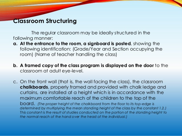 Classroom Structuring