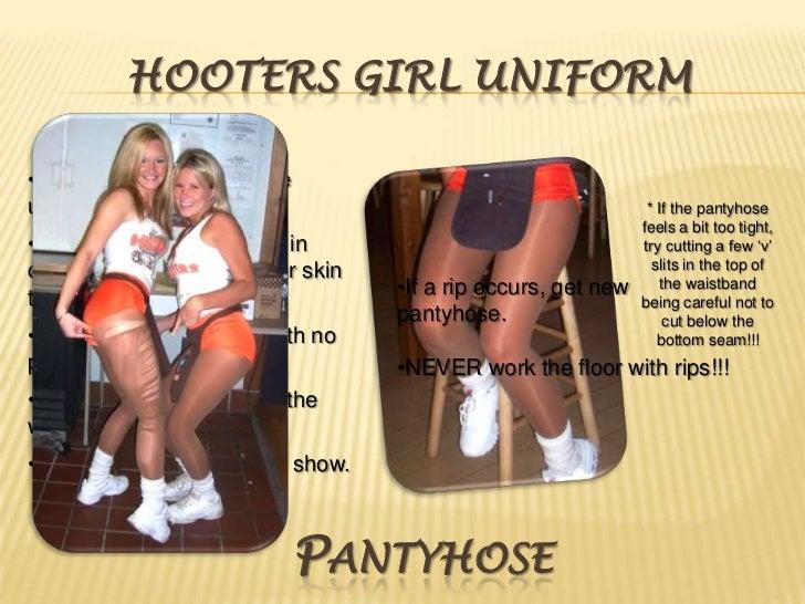 Pantyhose hooters uniform