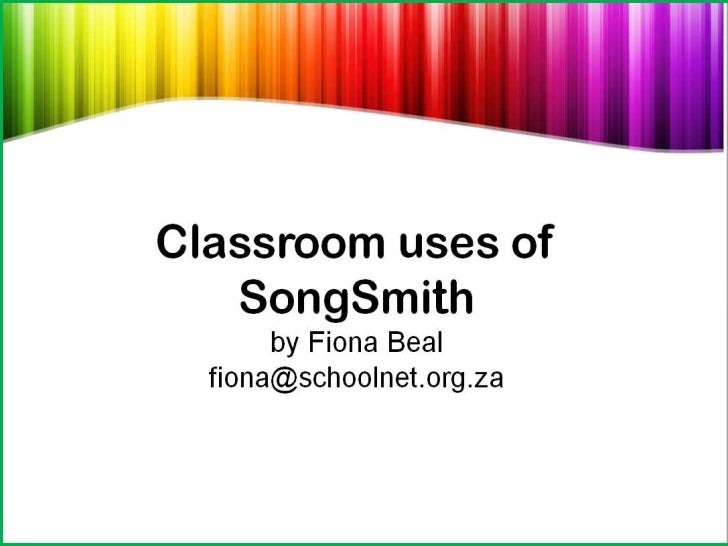 Classroom uses of Songsmith