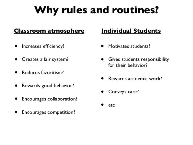 Collaborative Classroom Procedures ~ Classroom rules routines and teacher moves