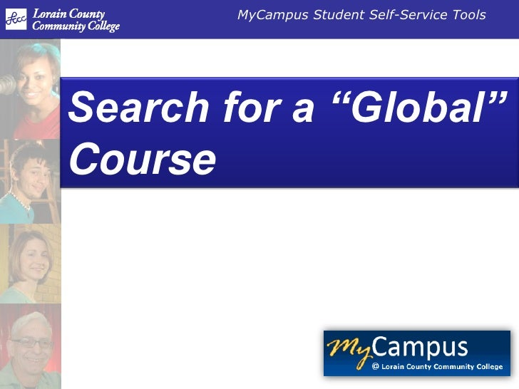 """Search for a """"Global"""" Course<br />"""
