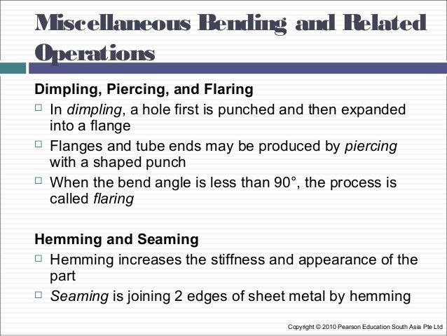 Class Sheet Metal Processes