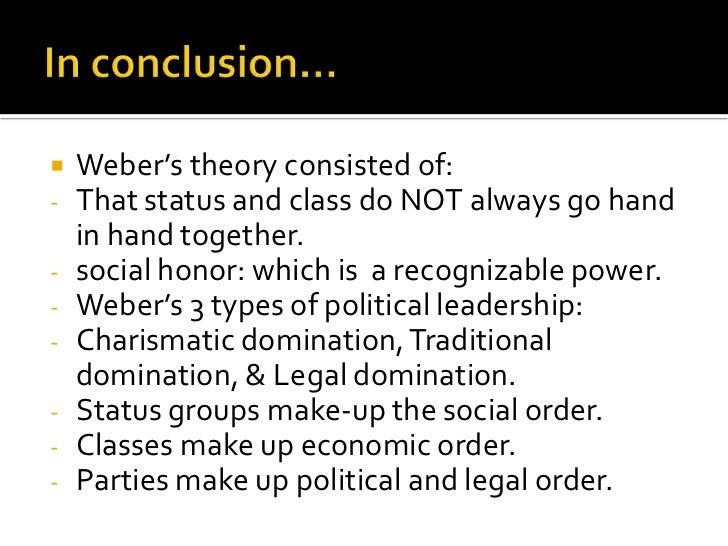 weber class theory