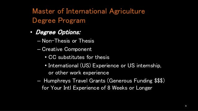 non-thesis masters degree programs Non-thesis master's degree programs consist of at least 32 semester hours students must complete a non-thesis examination to demonstrate mastery of their academic.