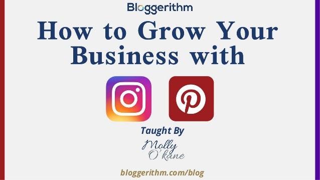 bloggerithm.com/blog Taught By