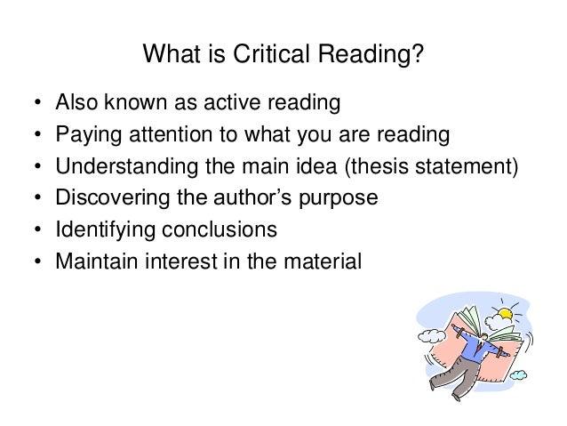 active reading essays