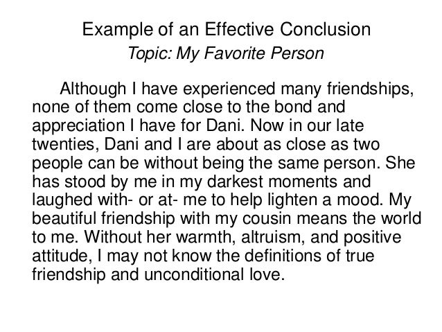 Conclusion for friendship essay