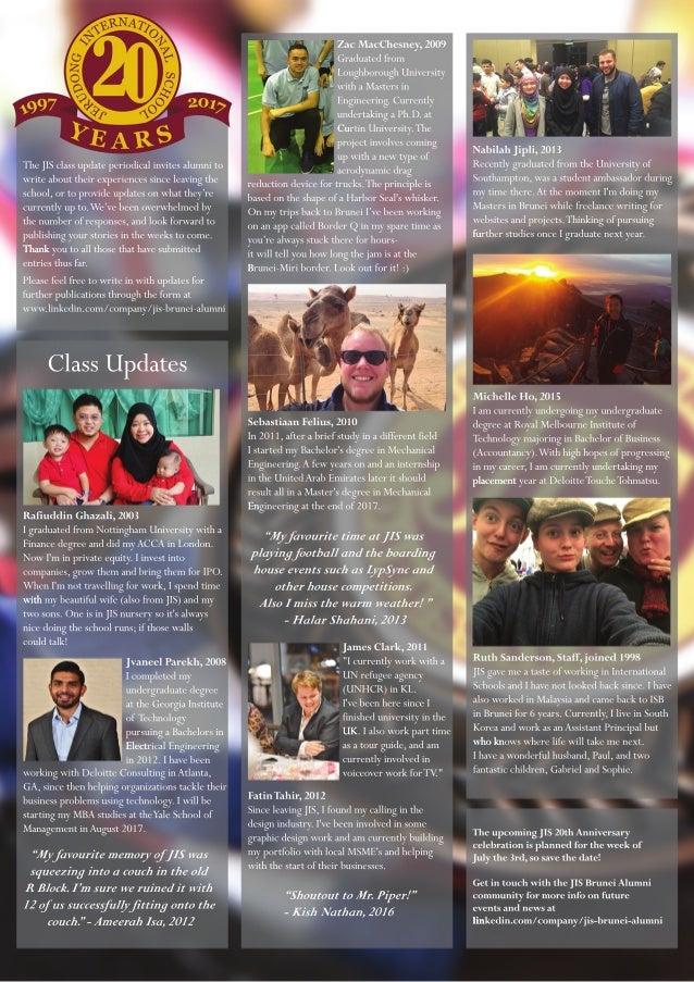 JIS Brunei Class News 2: 20 Year Book 1997-2017