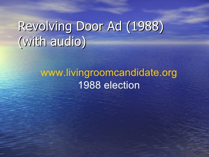Revolving Door Ad 1988 Without Audio 12
