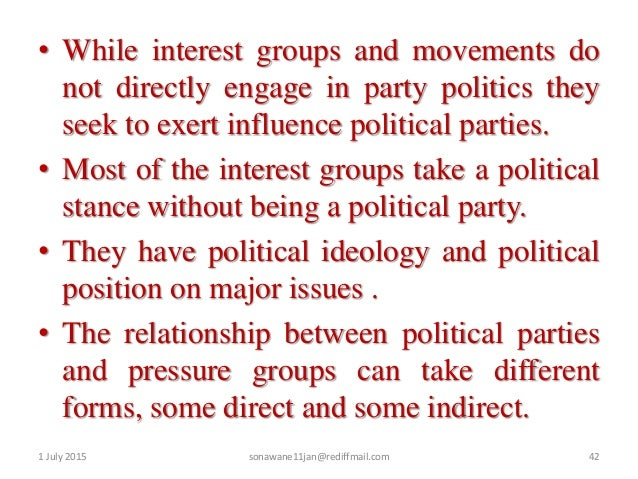 pressure groups and movements are healthy for democracy