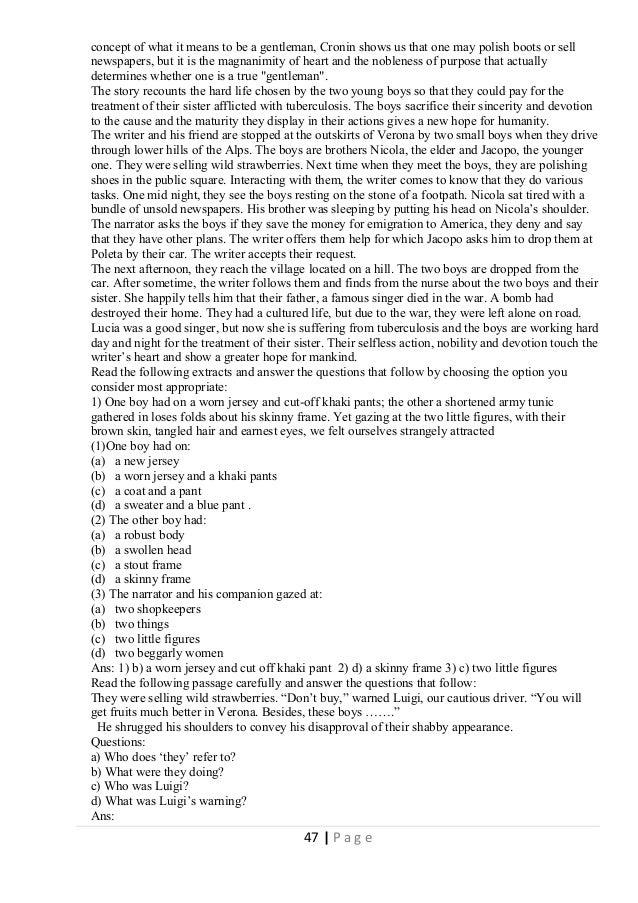 CBSE Class X English Support Material – Fiction – Two Gentlemen of Verona