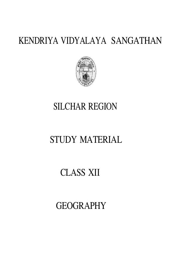 Class XII Geography Study Material