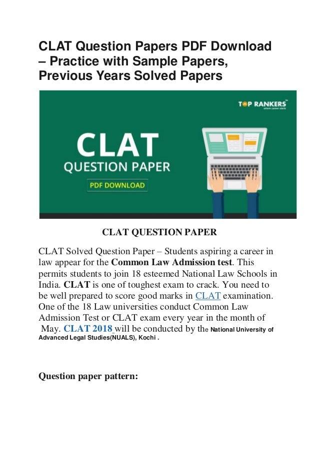 Paper pdf clat