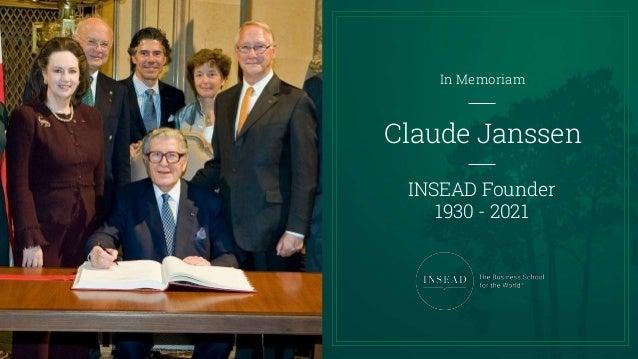 Claude Janssen In Memoriam Slideshow Slide 3
