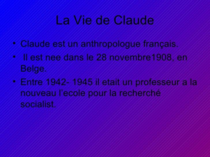 Claude Levi Strauss Slide 2