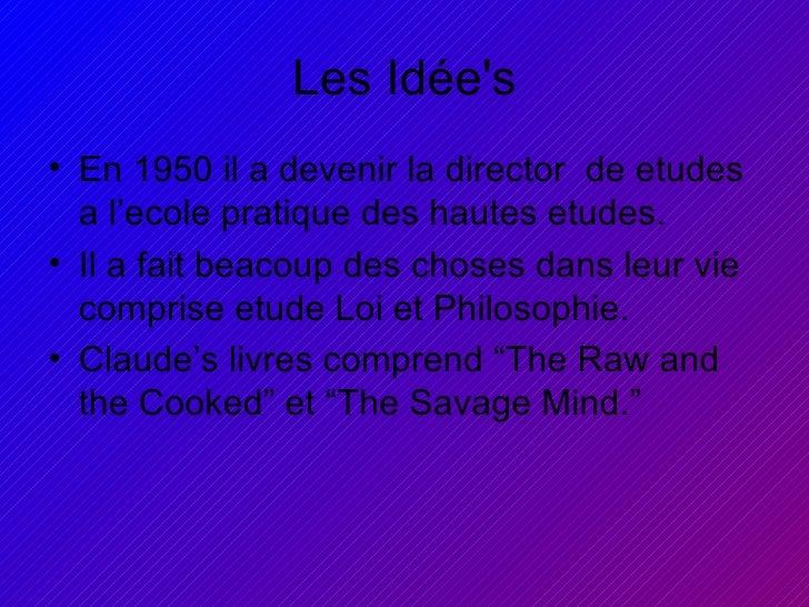 Claude Levi Strauss Slide 3
