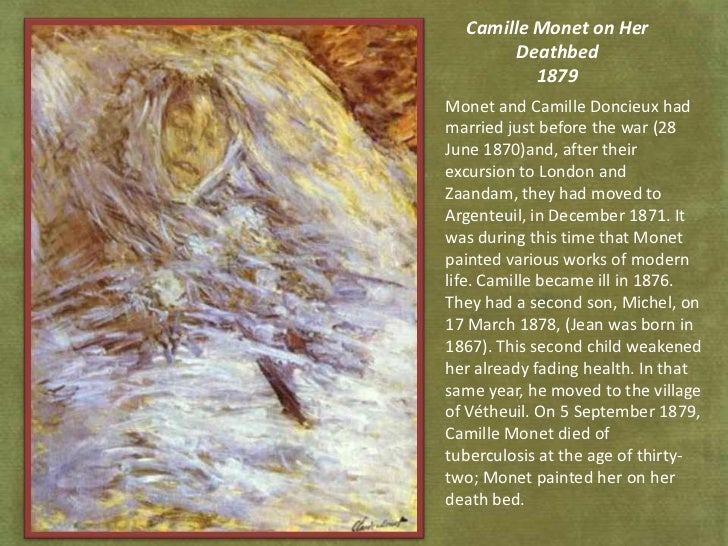 Image result for DEATH BED CLAUDE MONET