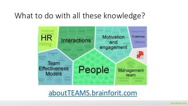 brainforit.com What to do with all these knowledge? aboutTEAMS.brainforit.com