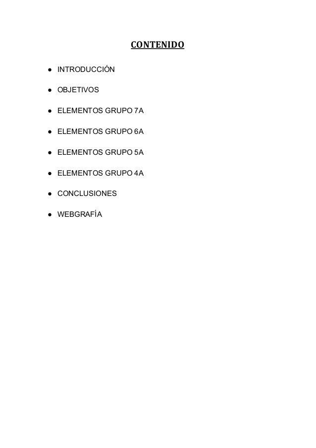 grupos de la tabla peridica