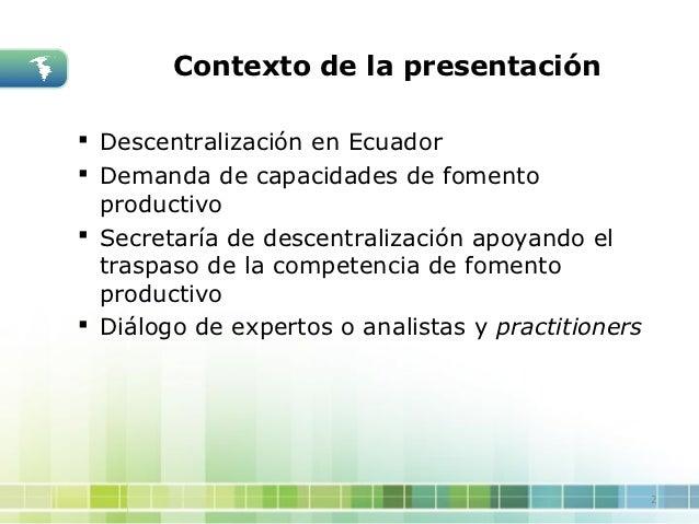 Claudia Serrano desarrollo endógeno y genero Slide 2