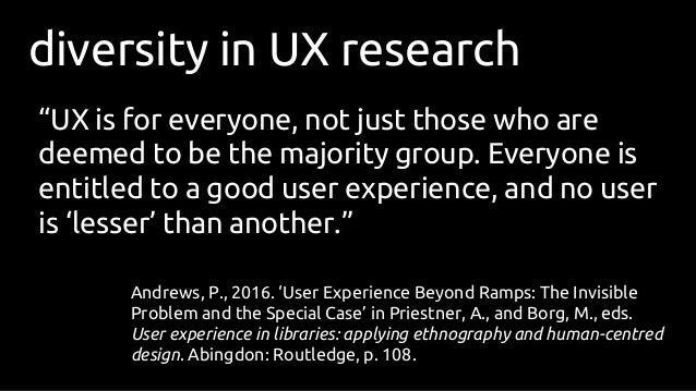 Inclusion And Diversity In Critical Ux Research