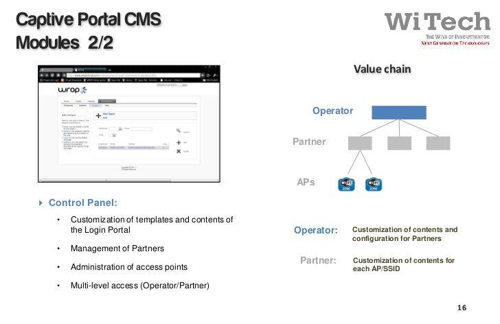 WiTech Wi-Fi cloud - managed services forum 2011 - lisbon