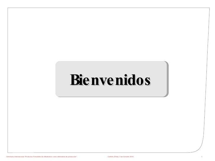 """Seminario Internacional """"Productos Forestales No Madereros como alternativa de producción"""" Cañete (Chile), 5 de Octubre 20..."""