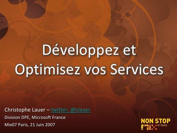 Mix Paris 2007 - CLaueR - Optimisez l'impact de vos services sur le web