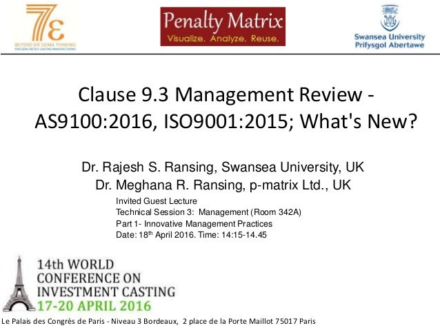 As  And Iso   Clause  Management Review  What