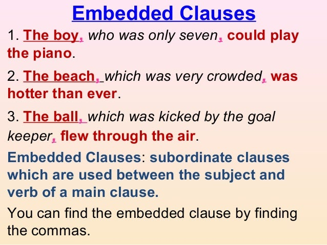 Clause Elements