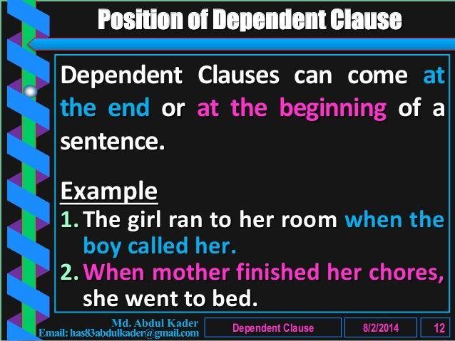 Clause Part 3 Of 10 Dependent Clause