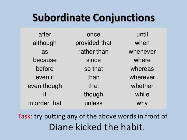 the main and subordinate clause