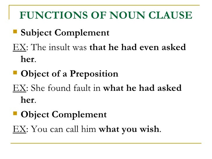 clauses and types of clauses pdf