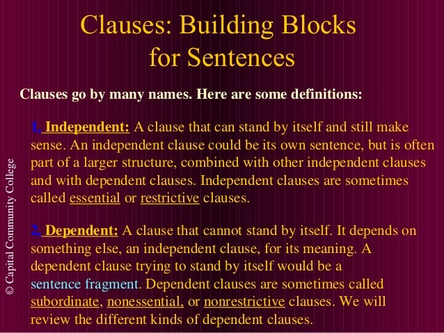 Clauses (1) Slide 2