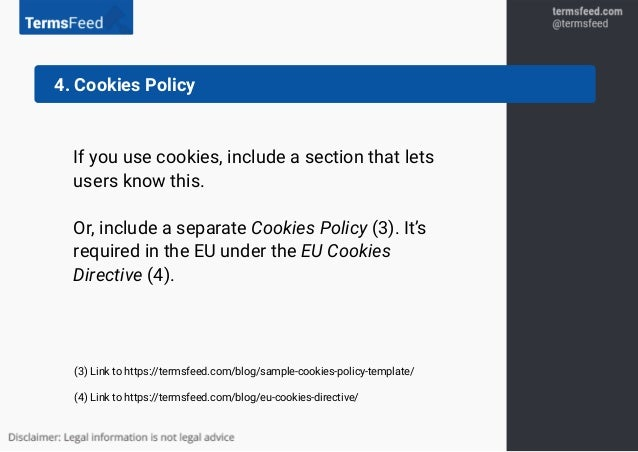 Clauses For Privacy Policy - Privacy policy cookies template