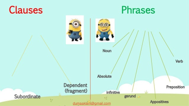 Clauses and phrases 4